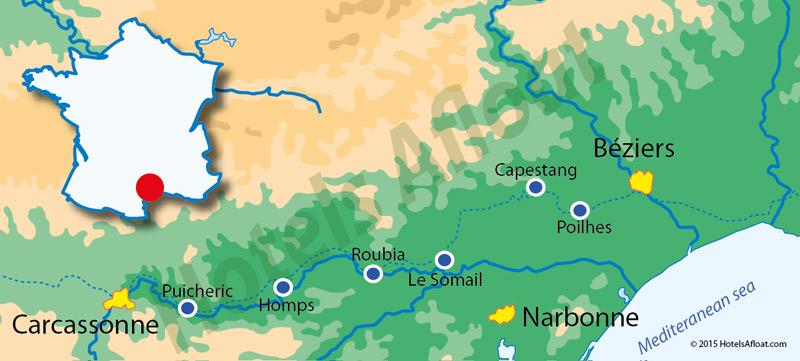 Cruise map for Alegria
