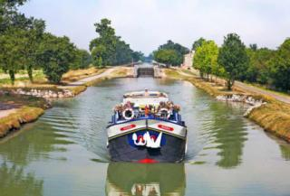 Cruising along the canal in France