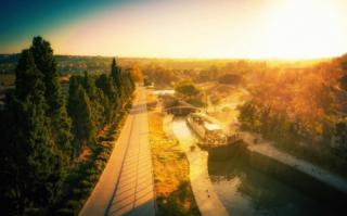 The midi canal in the south of France