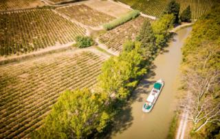 Vine yards and the canal on the south of France