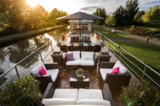 Grand Victoria barge sundeck