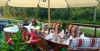 Sun deck and lunches in the countryside