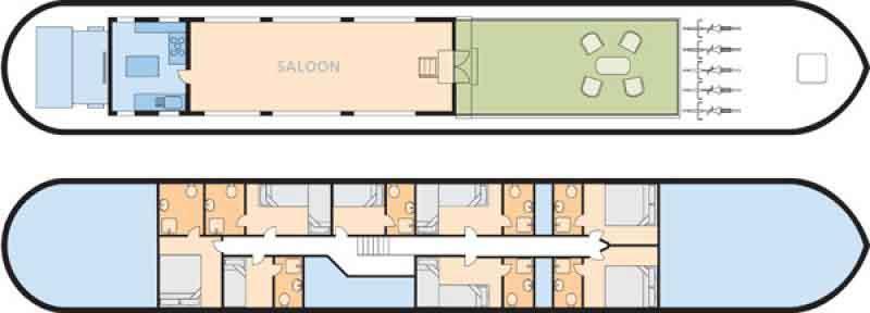 Luciole deck plan