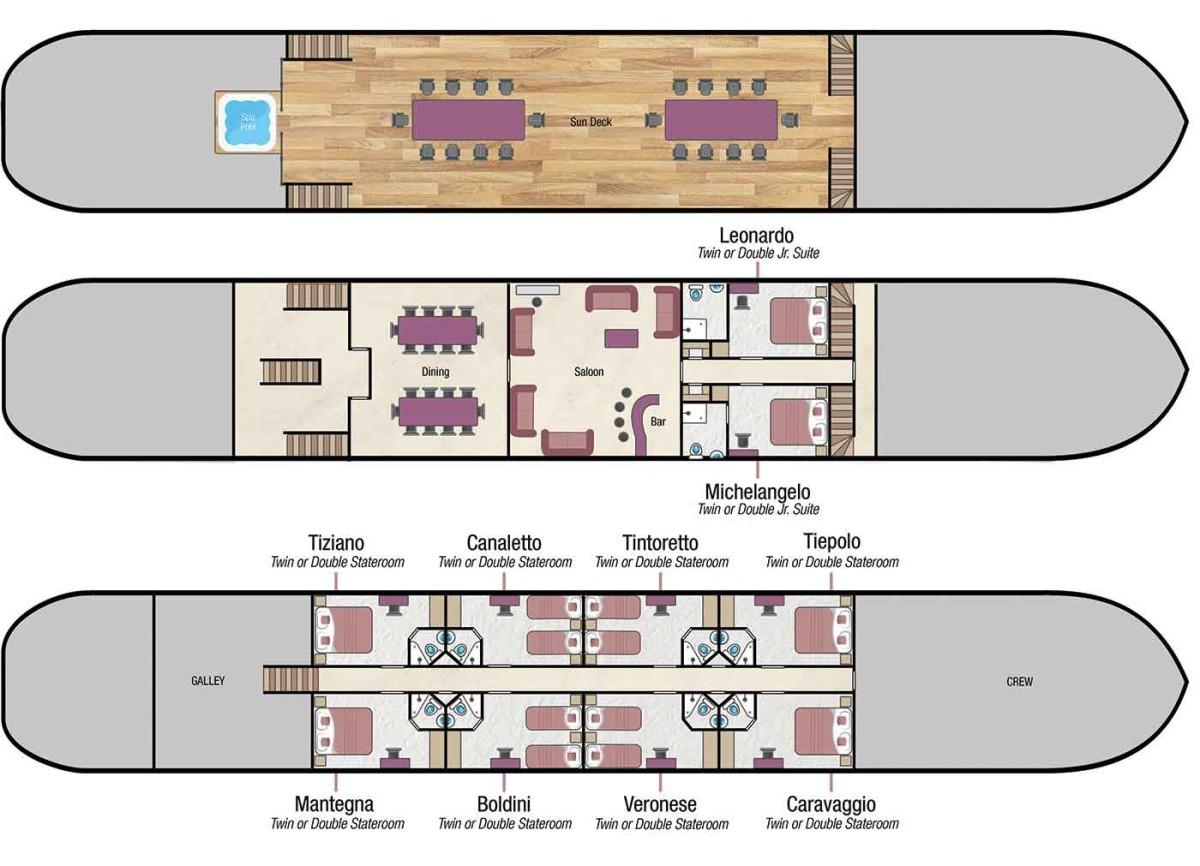 La Bella Vita deck plan
