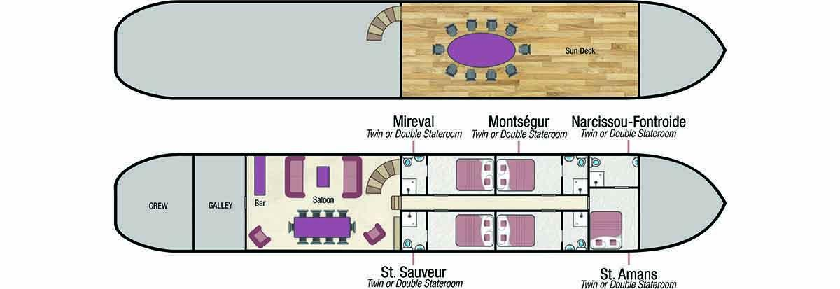 Athos deck plan