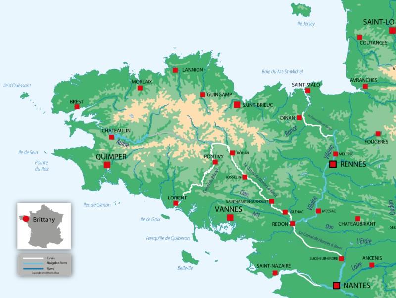 Nicols Brittany map