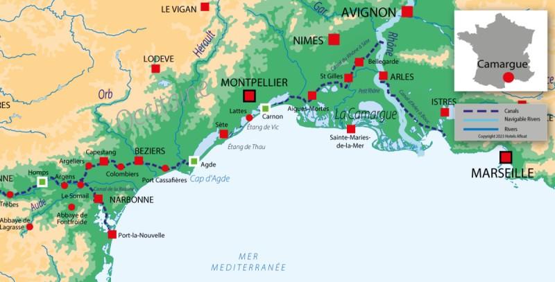 France Passion Plaisance Camargue map