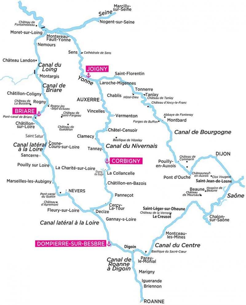 the Nivernais canal & River Yonne
