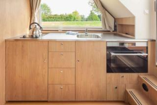 Compact galley with a great view!