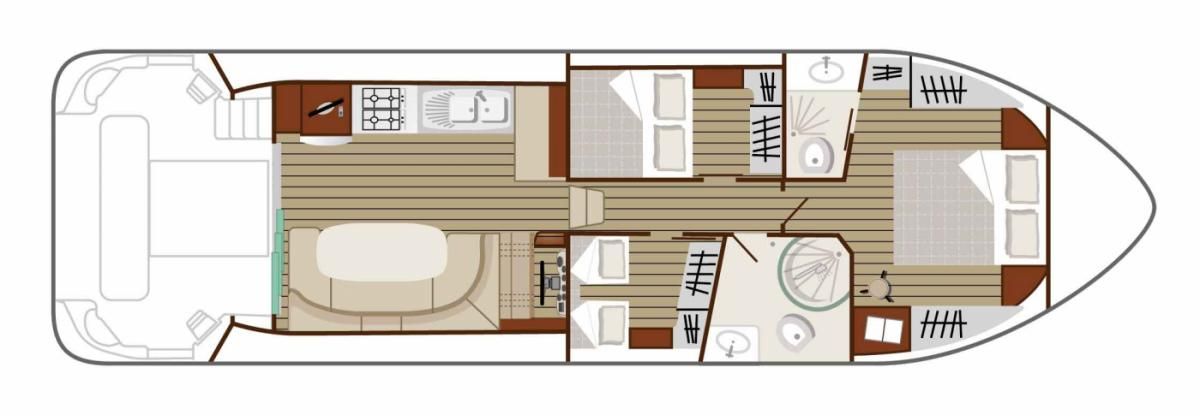 Boat plan of the Nicols N SIXTO