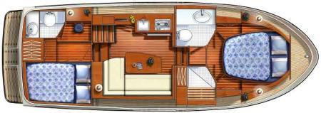 Boat plan France Afloat Linssen 29.9 Aft cabin France Afloat
