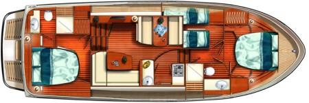 Boat plan France Afloat Linssen 40.9 Aft cabin France Afloat