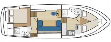 Boat plan France Passion Plaisance Linssen Yacht 36 France Passion Plaisance