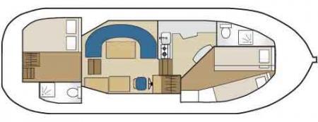 Boat plan France Passion Plaisance Penichette 1020FB France Passion Plaisance