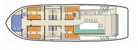 Boat plan Le Boat Horizon 5 Le Boat