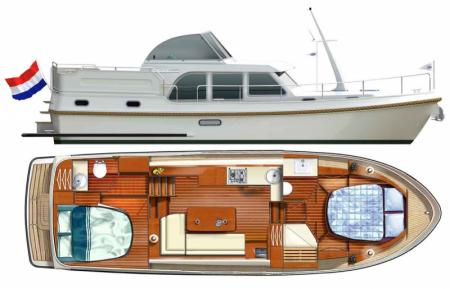 Boat plan France Afloat Linssen 35 Aft Cabin France Afloat