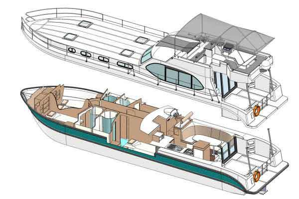 Boat plan of the Nicols N OCTO Fly C