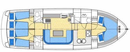 Boat plan Locaboat Europa 500 Locaboat