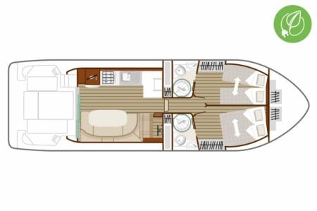 Boat plan Nicols N QUATTRO FLY C GREEN Nicols
