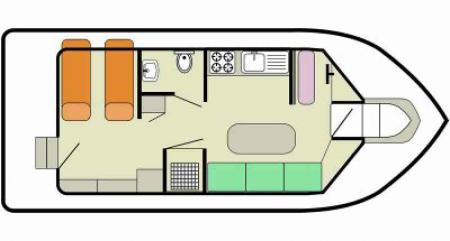 Boat plan Le Boat Cirrus A  Le Boat