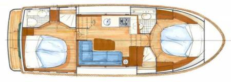 Boat plan France Afloat Linssen 32 Aft Cabin France Afloat