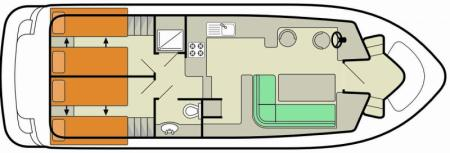 Boat plan Le Boat Tango Le Boat