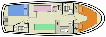 Boat plan Le Boat Tamaris Le Boat