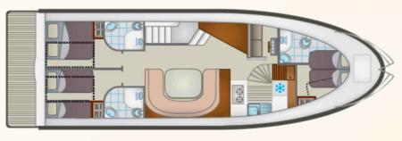 Boat plan Locaboat Europa 700 Locaboat
