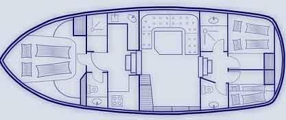 Boat plan Saone Bateaux BWS Cruiser 1250 Saone Bateaux