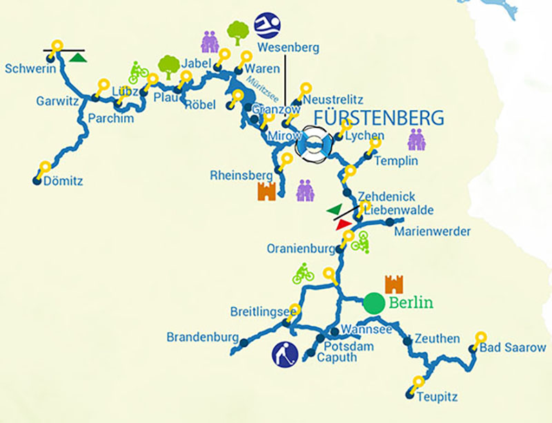 Cruise map Germany