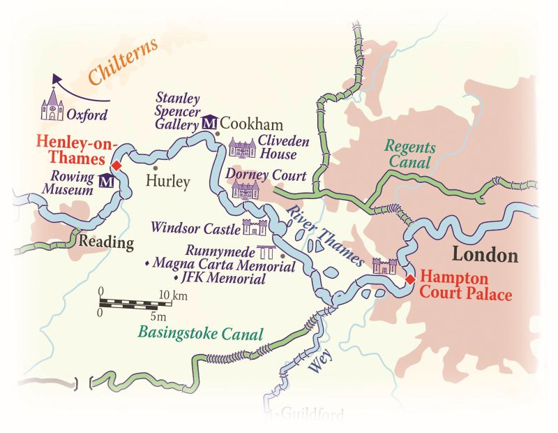 Cruise map for the Magna Carta