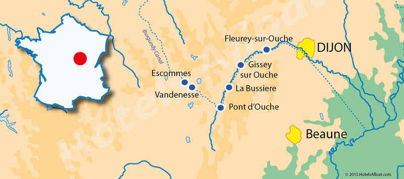 Cruise map for L'Impressionniste