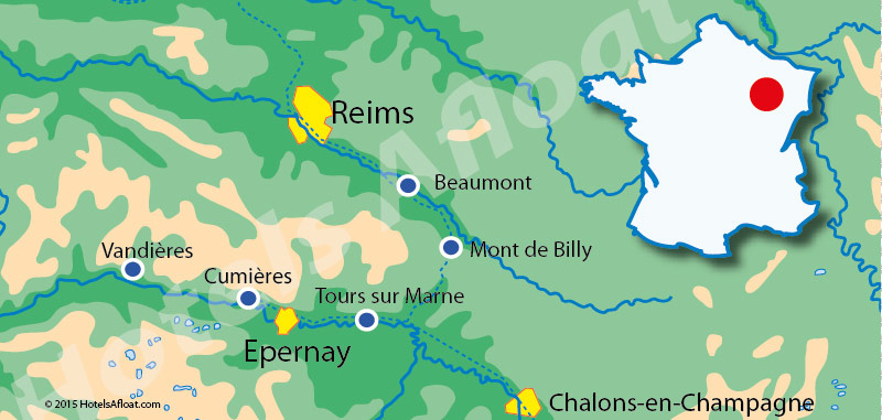 Cruise map for Saroche in the Champagne region