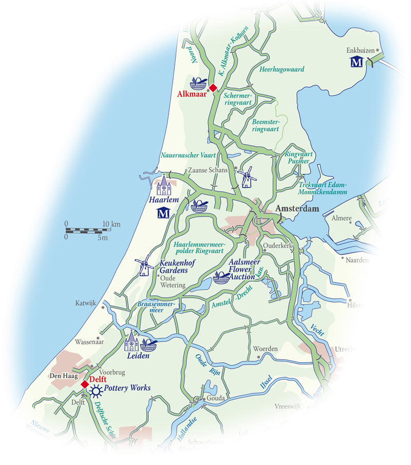 Cruise map for the Panache in Holland
