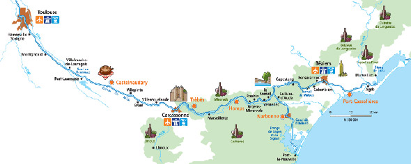 Cruise routes in Burgundy